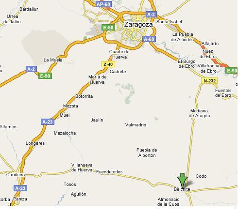 Mapa de Belchite